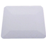 "4"" WHITE TEFLON HARD CARD SQUEEGEE"