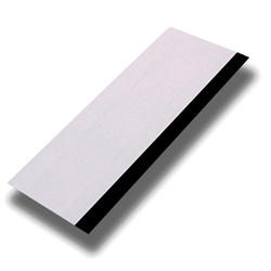 "6"" WHITE SQUEEGEE WITH BLACK RUBBER EDGE"